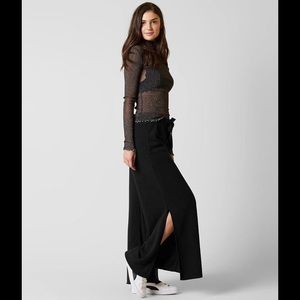 Free-people wide leg joggers with side slit